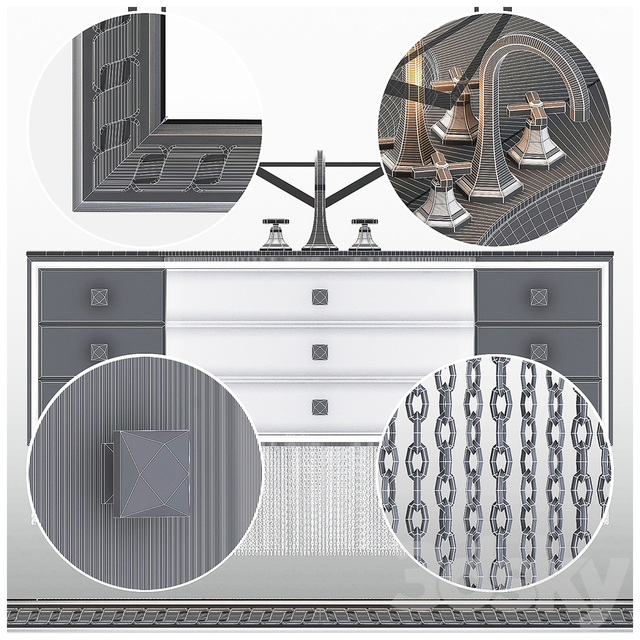 Silver Bathroom Furniture