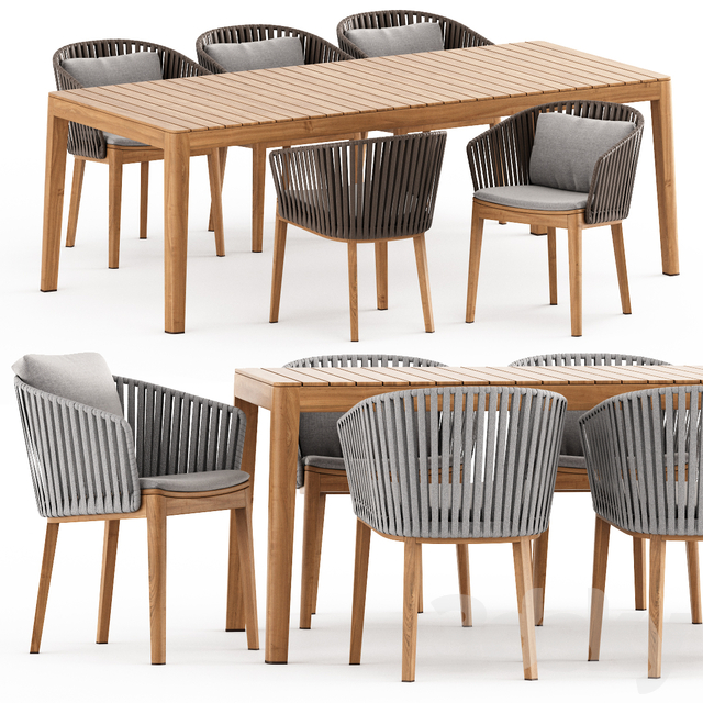 MOOD Chair, MOOD Table by Tribu