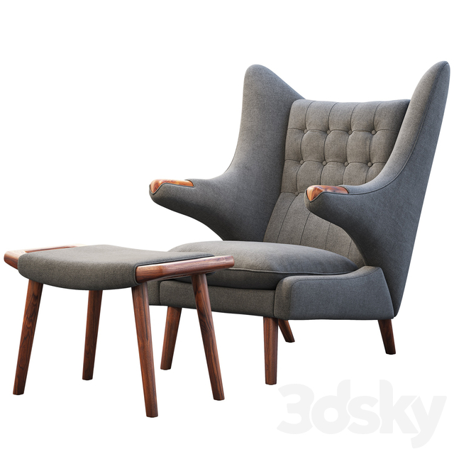 PP19 Papa Bear chair and ottoman
