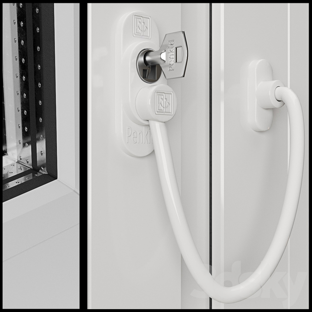 Veka windows with Penkid Cable Lock.