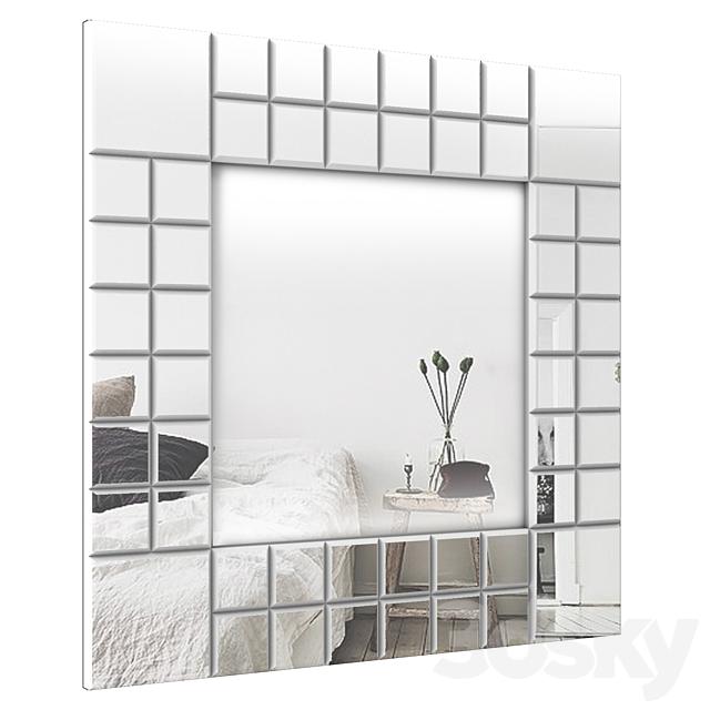 Lucilla Square Beveled Wall Mirror W000467014