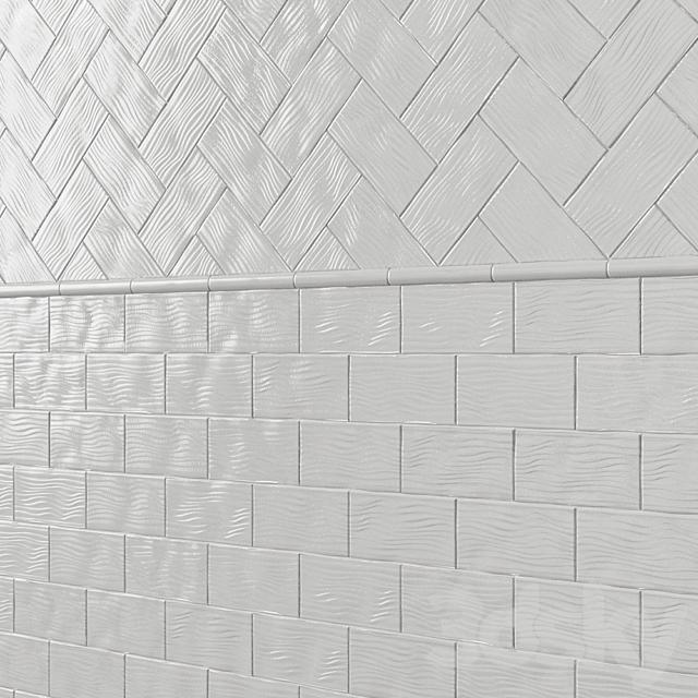 Ceramic wall tile ADEX EARTH Liso Waves
