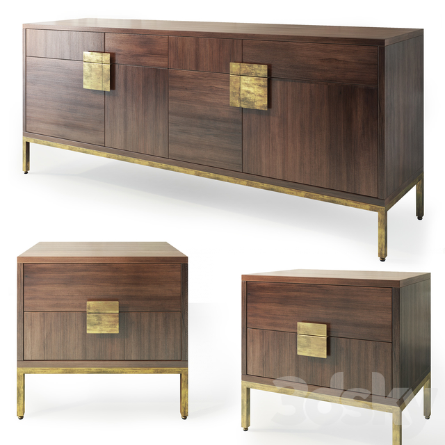 Chest and nightstand Jade. Sideboard, nightstand by Sunpan Furniture