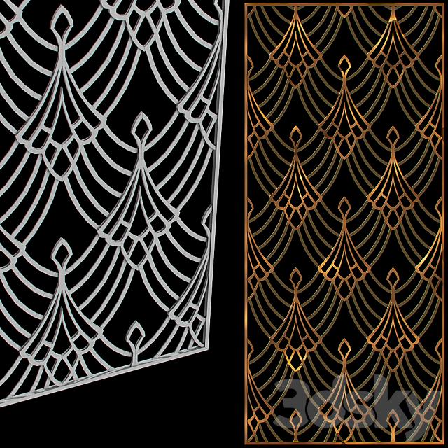 Metal decorative grille