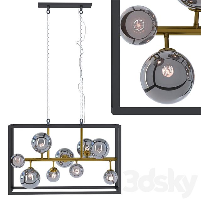 Hanging lamp balloon cube