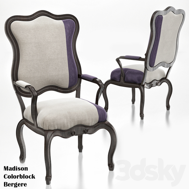Michael & Madison Colorblock Bergere Chair
