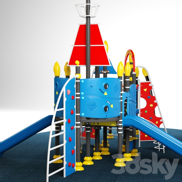 Kids playground equipment with slide climbing 10