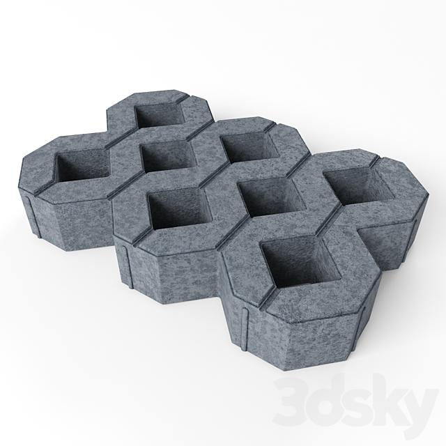 "Lawn concrete grill ""MEBA"""