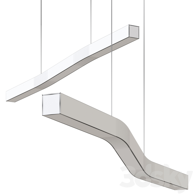 Camur LED Linear Pendant Light by Cerno