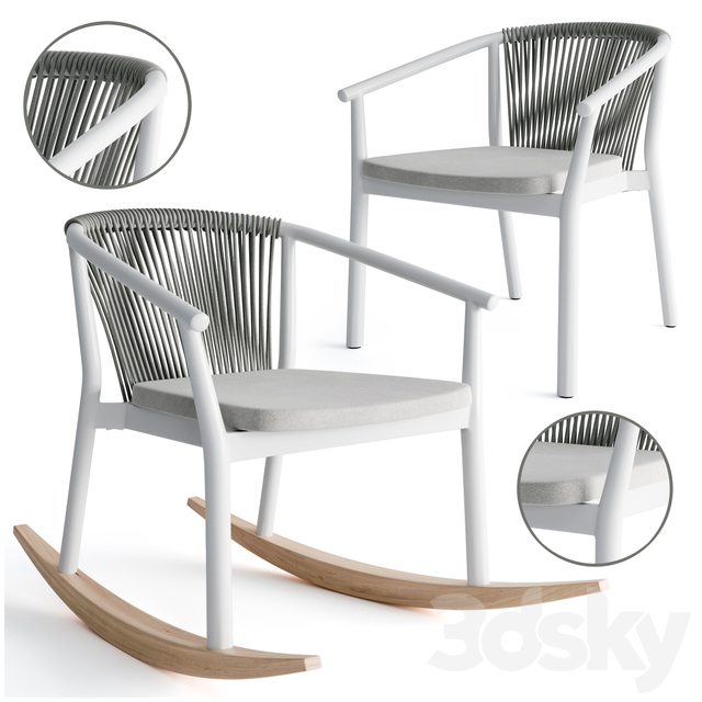 Varaschin rocking and smart armchair