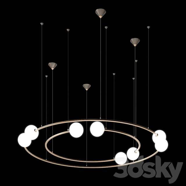 Volker Haug Studio ODDMENTS DUAL pendant lamp