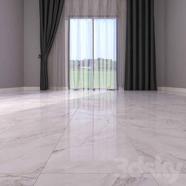 Marble floor anderson white