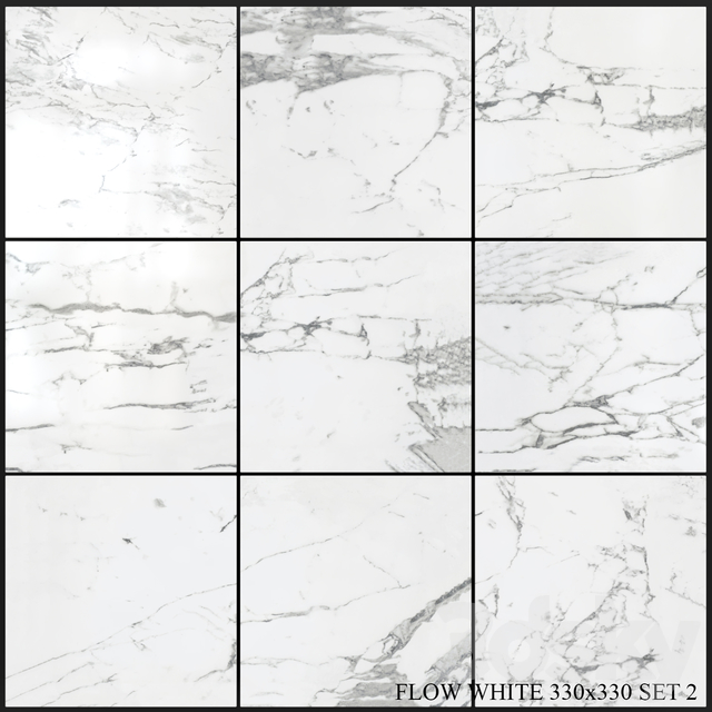 Yurtbay Seramik Flow White 330x330 Set 2