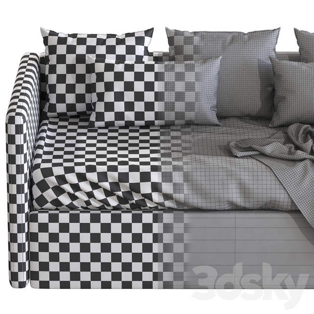 Children's sofa bed with decorative pillows 2