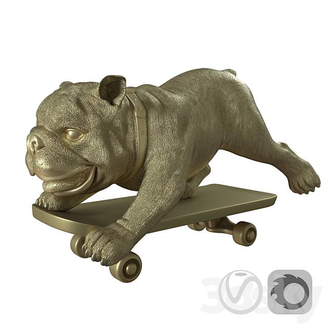 Skating dog sculpture by BoConcept