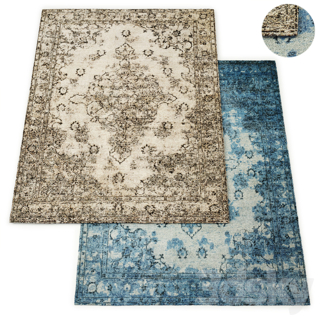 Amora Hand-Knotted Wool Rug RH Collection