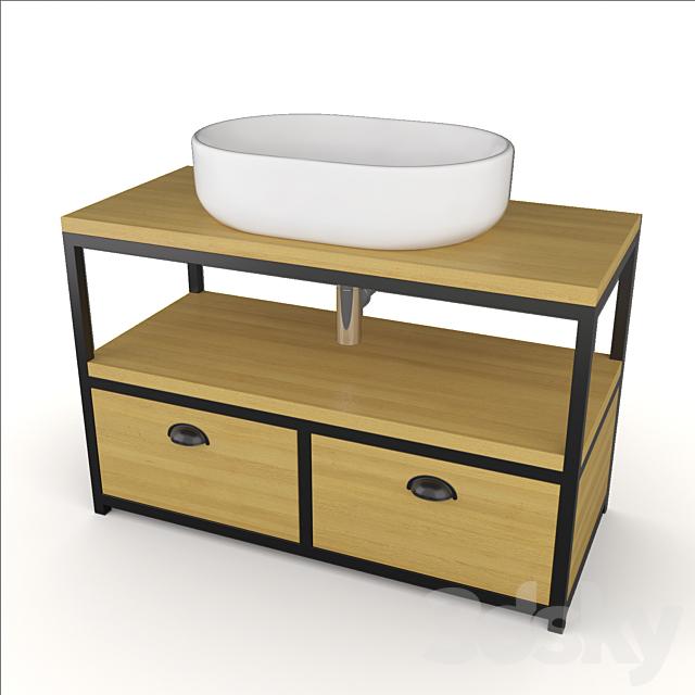 Cabinet Noreedge Midler + Basin Mira / Norwich Midler washbasin cabinet + Peace sink