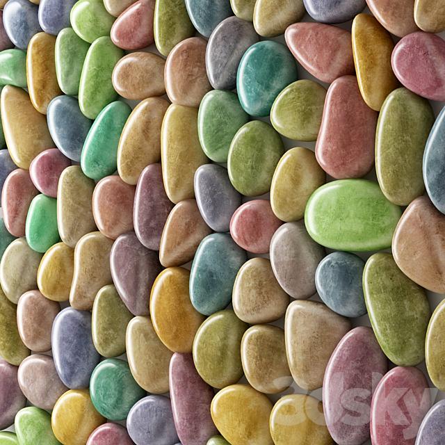 Panel pebble smooth color bathroom n2