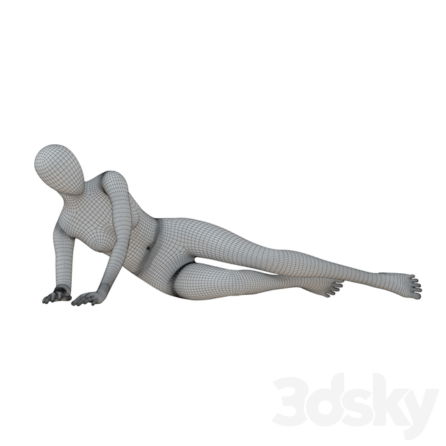 Black female mannequin in a lying pose 50