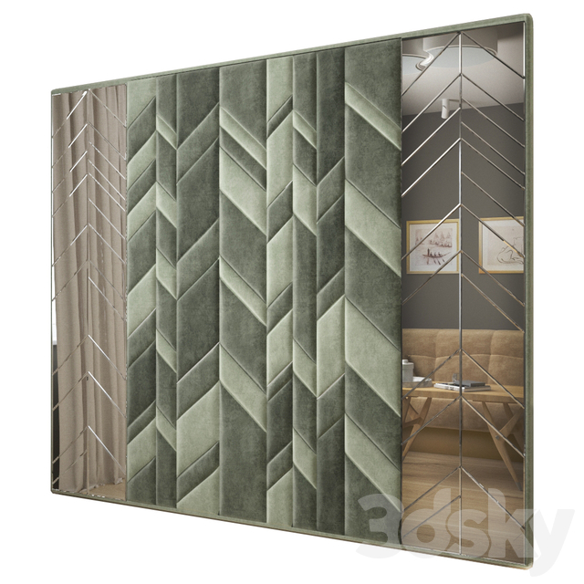 Headboard with a mirror