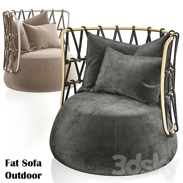 Armchair Fat Sofa Outdoor URQUIOLA Fabric