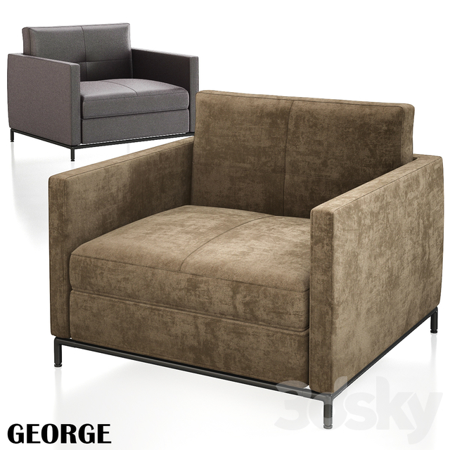 Armchair George Citterio Leather