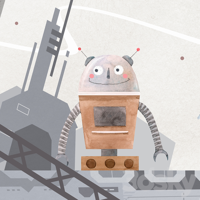 Creativille | Wallpapers | Planet of robots 2710