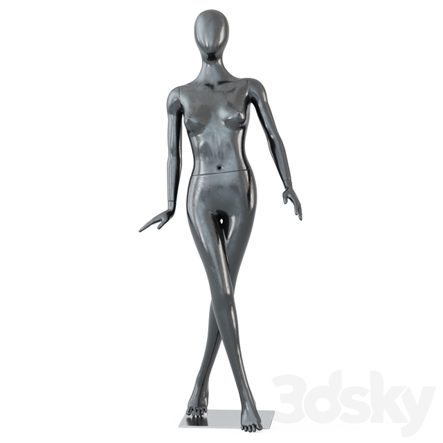 Female black mannequin in a standing pose 61