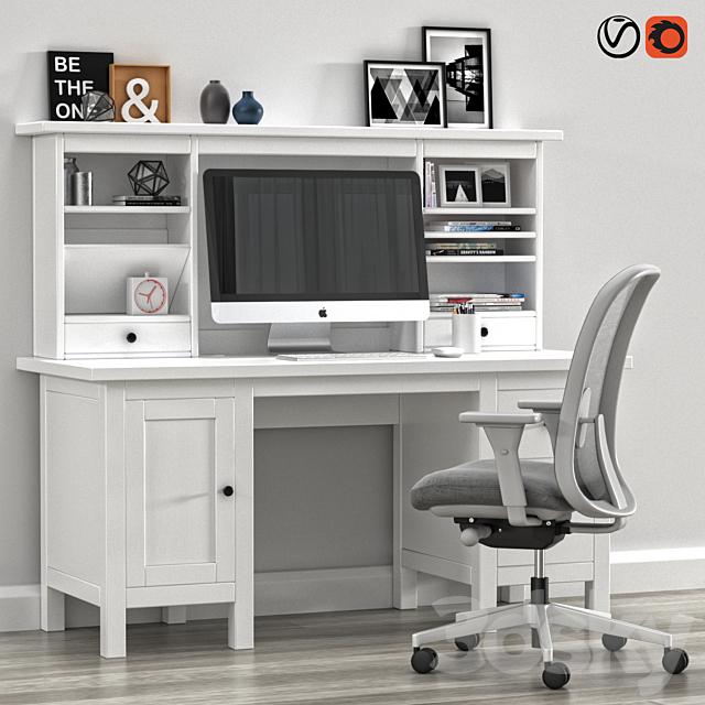 Ikea Hemnes Desk Withh Add On Unit