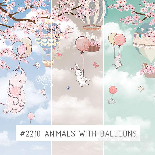 Creativille | Wallpapers | 2210 Animals with balloons