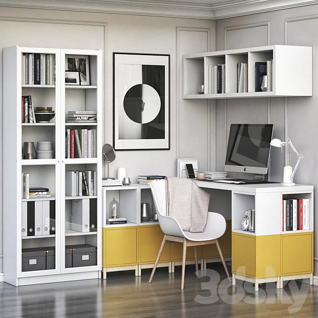 Ikea Corner Workplace With Eket