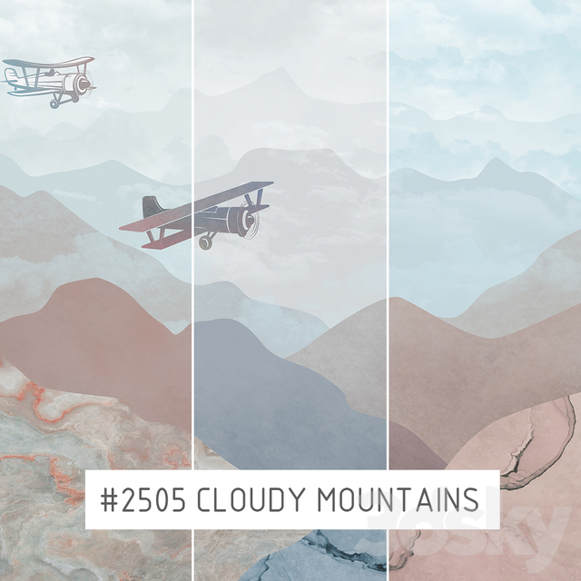 Creativille | Wallpapers | 2505 cloudy mountains