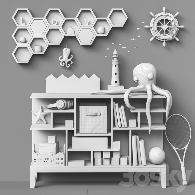 Toys and furniture set 71 (2 part)