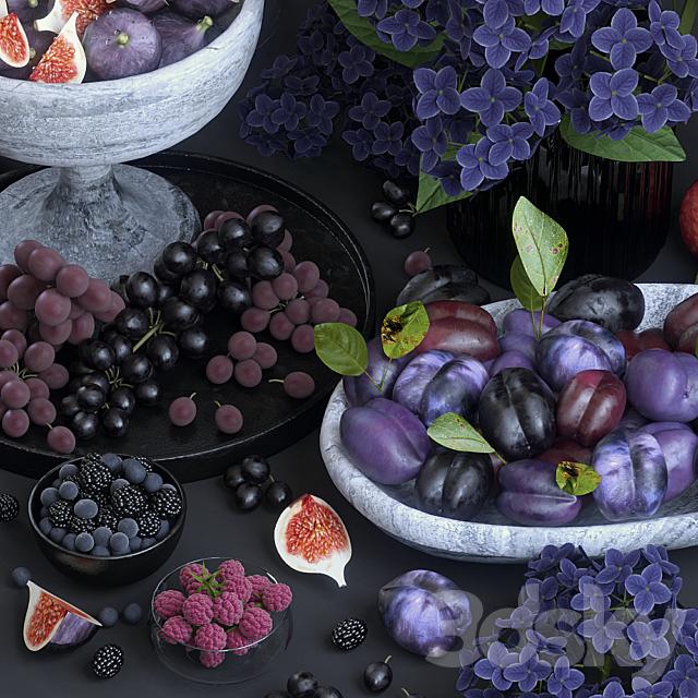 Fruits. Purple