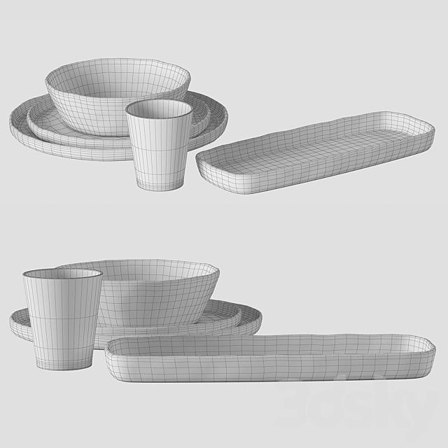 Argila plates set