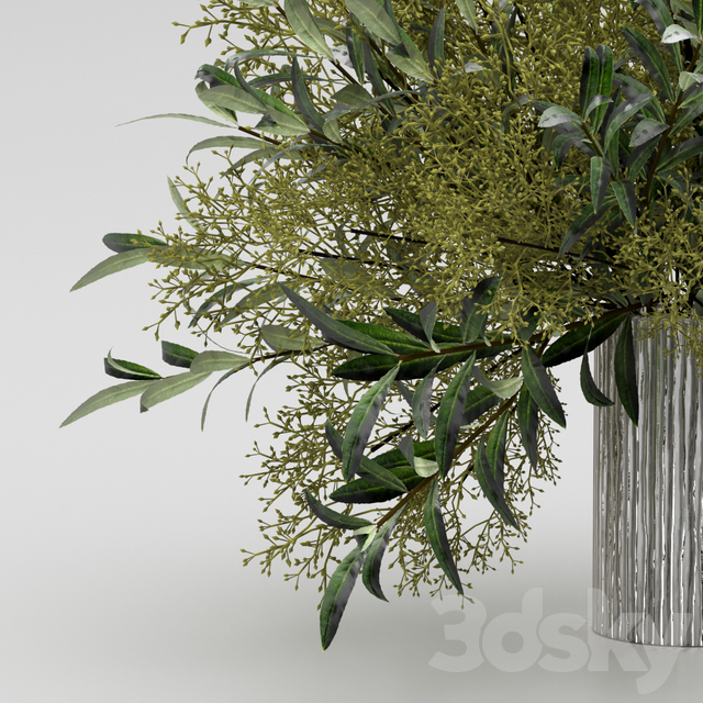 Bouquet of olives with herbs.