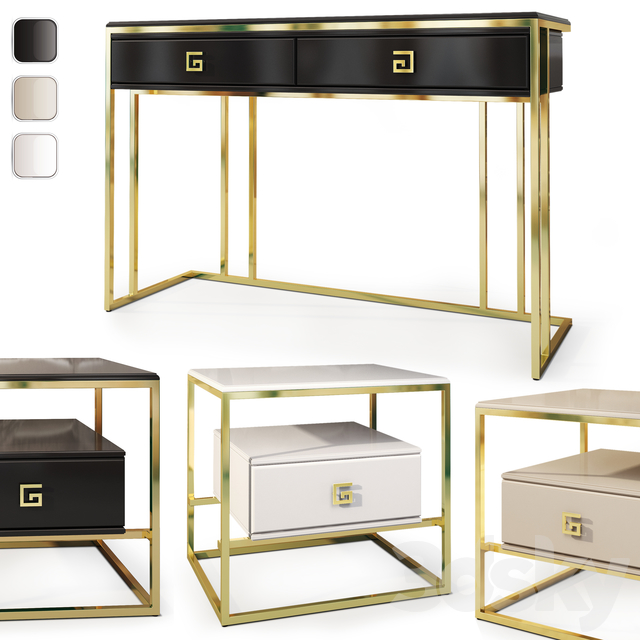Cabinet and chest of drawers / console Bolero. Console dresser, nightstand by Neoclassica Casa