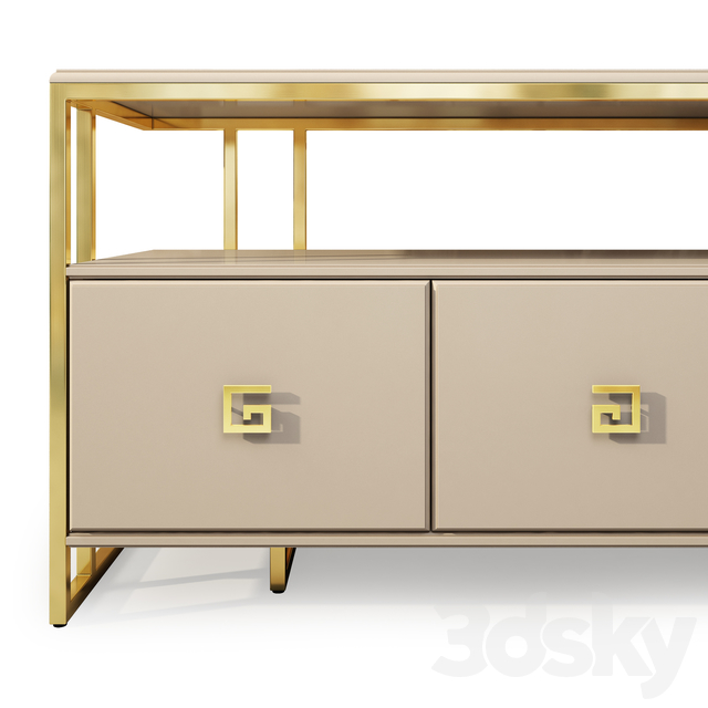 TV cabinet and chest of drawers Bolero. TV console, sideboard by Neoclassica Casa