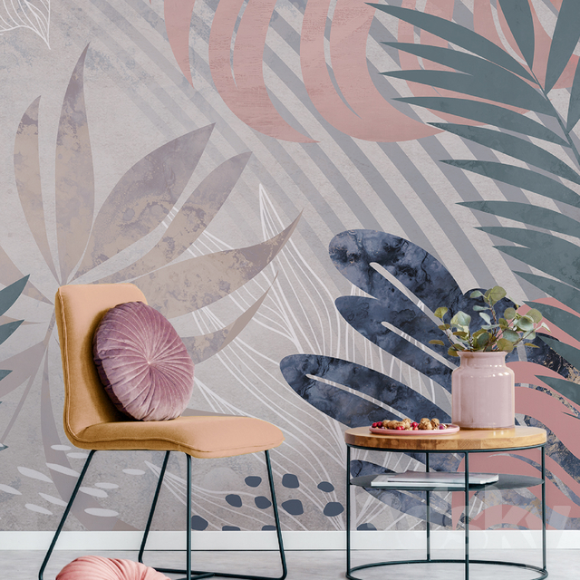 Creativille | Wallpapers | 4521 Freehand Tropical Leaves