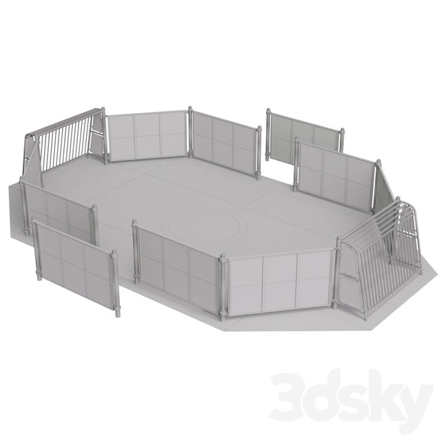 BUGLO. SPORTS FIELD and BASKETBALL RACK