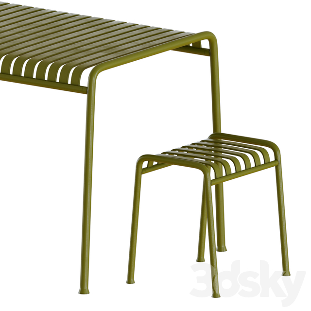 Hay palissade dining table and chairs
