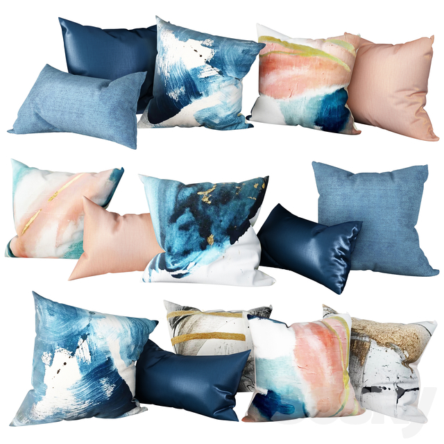 """Set of pillows """"Abstraction 1"""""""