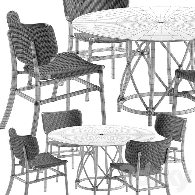 Mcguire Hanalei chair Gondola table set