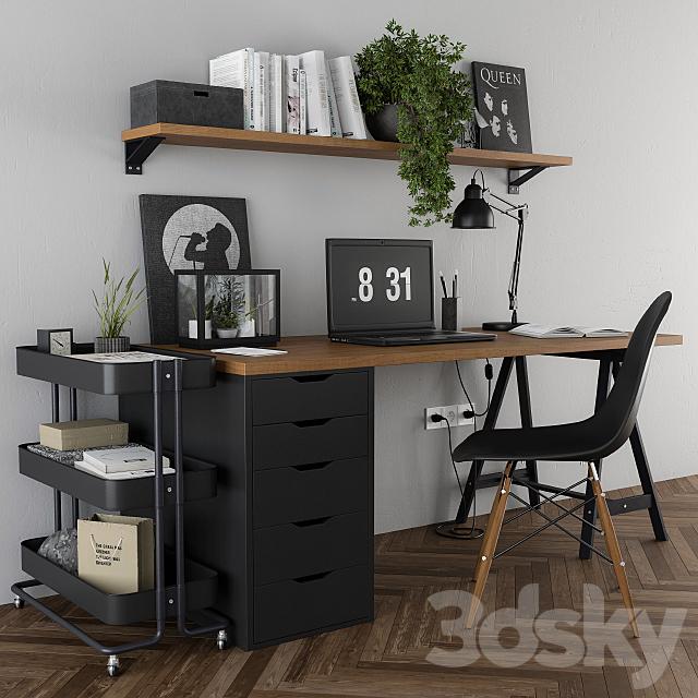 Home Office Ikea Set Black, Home Office Furniture Ikea