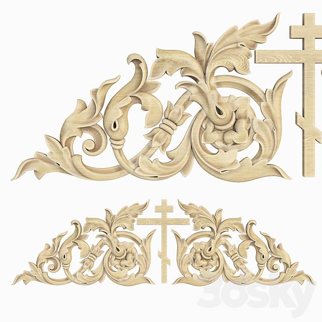 Decorative carved trim