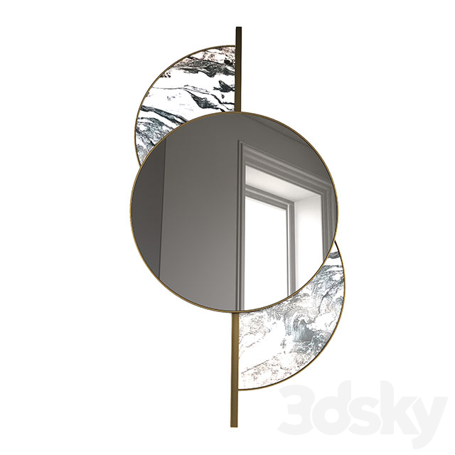 gold and marble mirror