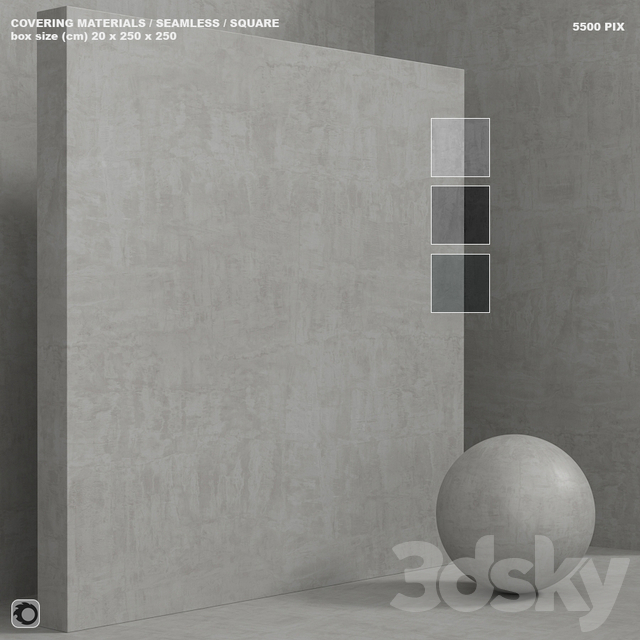 Material (seamless) - concrete plaster set 141