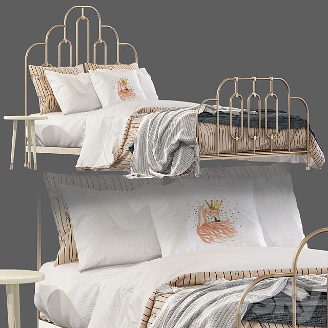 Bed Anthropologie art deco bed 2