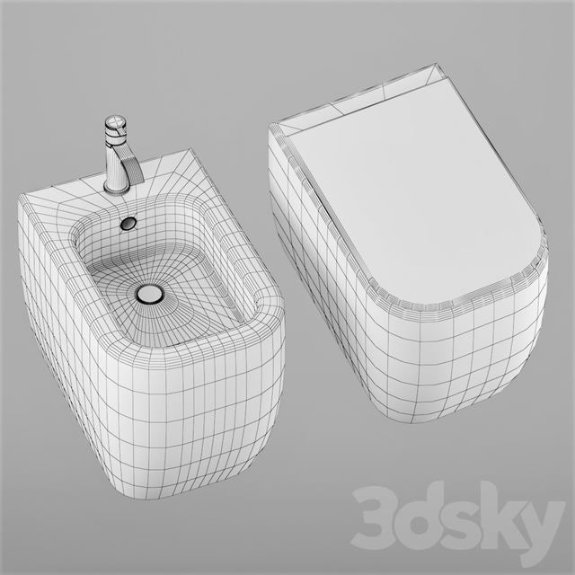 SEMPLICE WC + BIDET by Nic Design