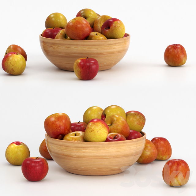 Apples in the bowl.